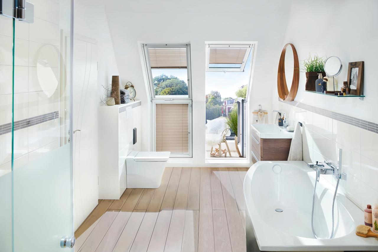 Jak zařídit koupelnu v podkroví?